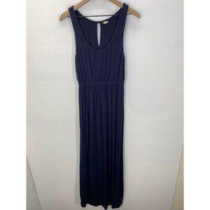 J. Crew Scoop-Neck Sleeveless Maxi Dress Blue Sz S